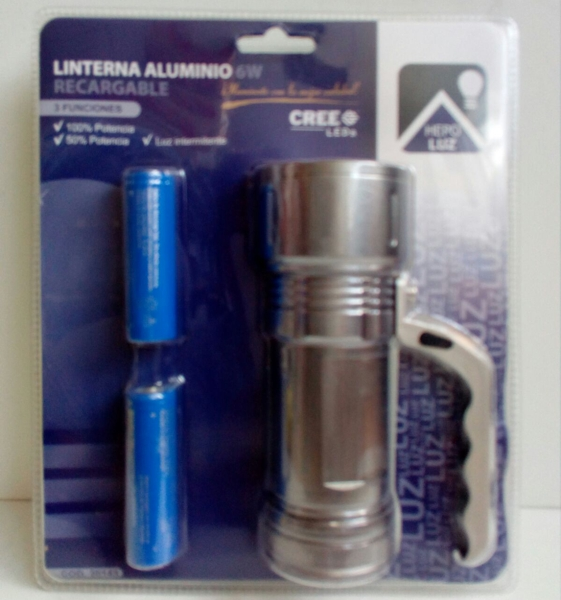 Linterna aluminio recargable