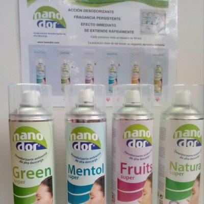 Ambientador desodorizante alta descarga - Acción desodorizante - Fragancia persistente - Efecto inmediato - Se extiende rapidamente